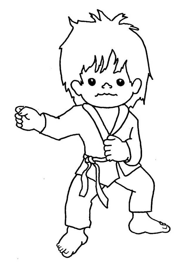 karate kid punching techniques coloring page