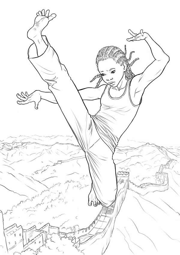 karate kid the coloring page