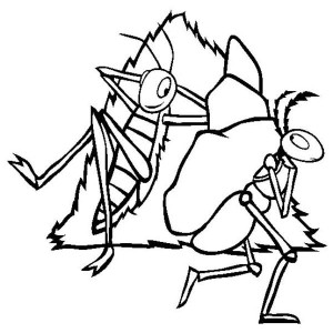 ant coloring page 1692 - Ant Coloring Page Black White