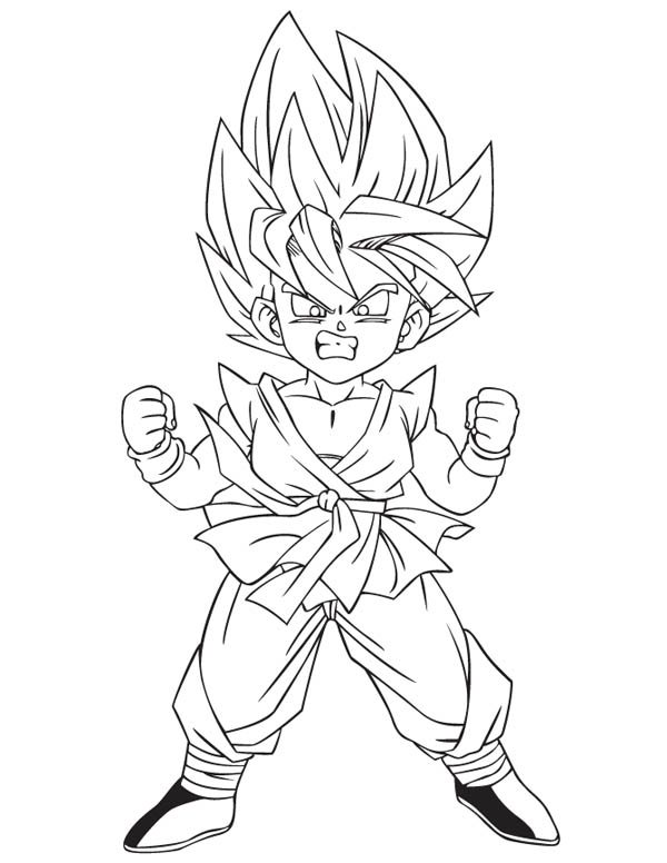 Coloring pages goku super saiyan more pictures