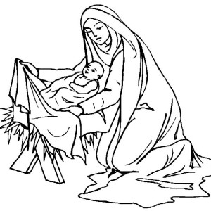 Baby Jesus Sleep in a Manger Coloring Page  Kids Play Color