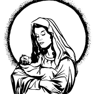 mary and baby jesus coloring page: mary and baby jesus coloring ... - Mary Baby Jesus Coloring Page