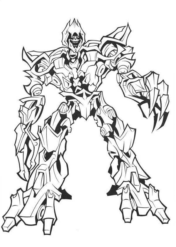 Transformers, : Megatron The Evil Master in Transformers Coloring Page