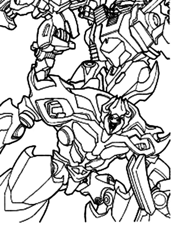 Transformers, : Megatron of Transformers Coloring Page
