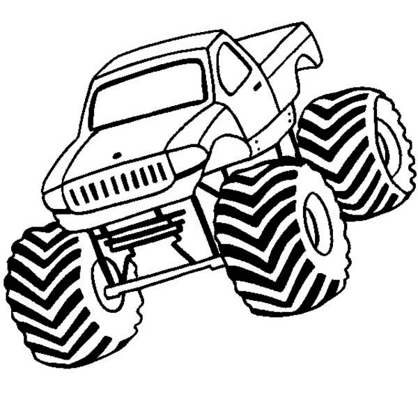 Monster Truck, : Monster Truck Bounty Hunter Coloring Page