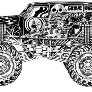 monster truck grave digger coloring page - Grave Digger Truck Coloring Pages