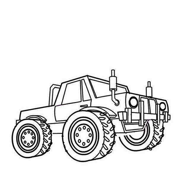 Monster Truck, : Monster Truck Razin Kane Coloring Page