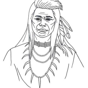 native american picture coloring page