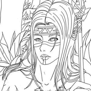 native american warrior coloring page