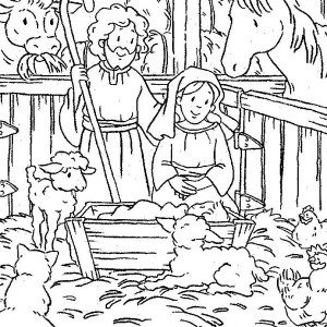 Baby Jesus in the Manger Coloring Page  Kids Play Color