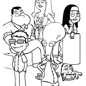 other characters in family guy coloring page