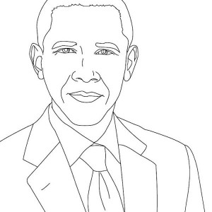 Amazing Barack Obama Coloring Page Kids Play Color
