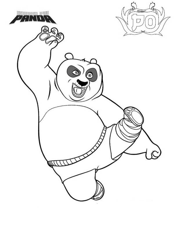 Kung Fu Panda, : Po The Amazing Kung Fu Panda Coloring Page
