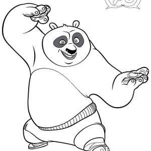 Kung Fu Panda Coloring Pages Po