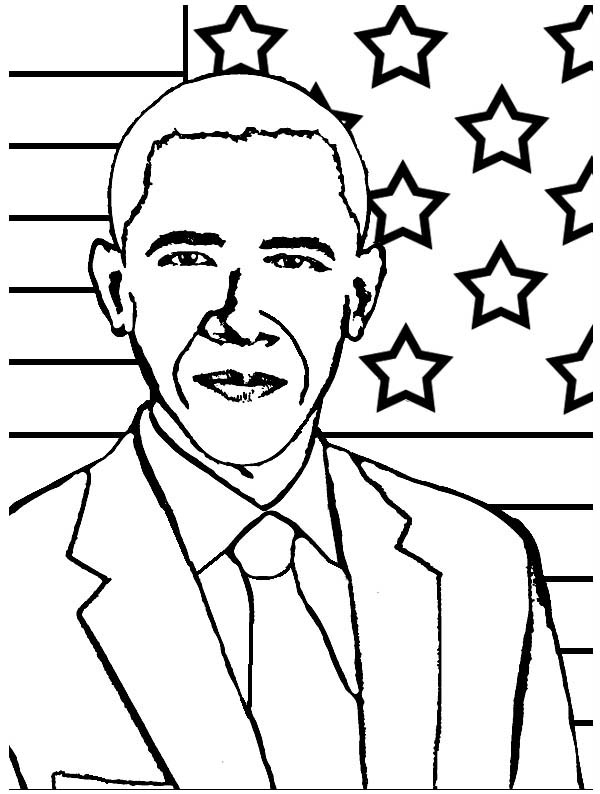 obama coloring pages - photo #20