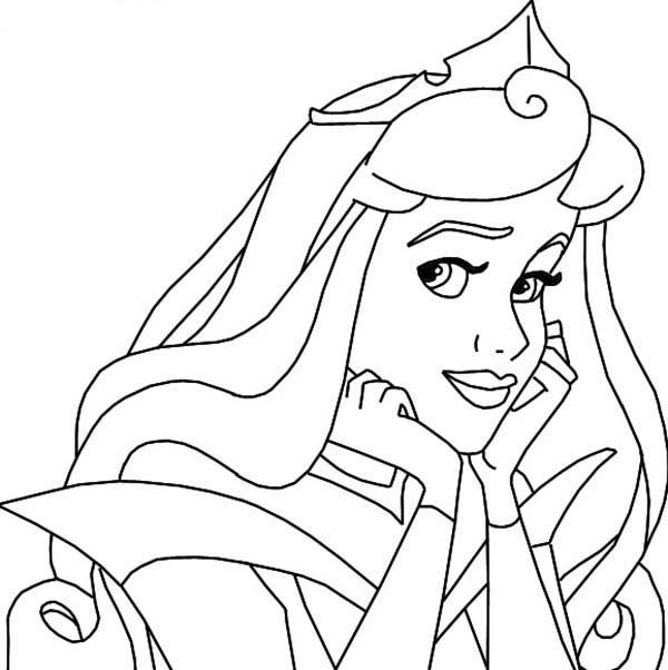 Princess Aurora, : Princess Aurora is so Beautiful Coloring Page