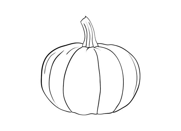 Pumpkins, : Pumpkins Fruit Picture Coloring Page