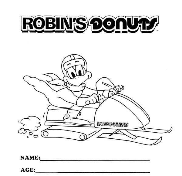Robin, : Robins Donuts Robin Bird Coloring Page
