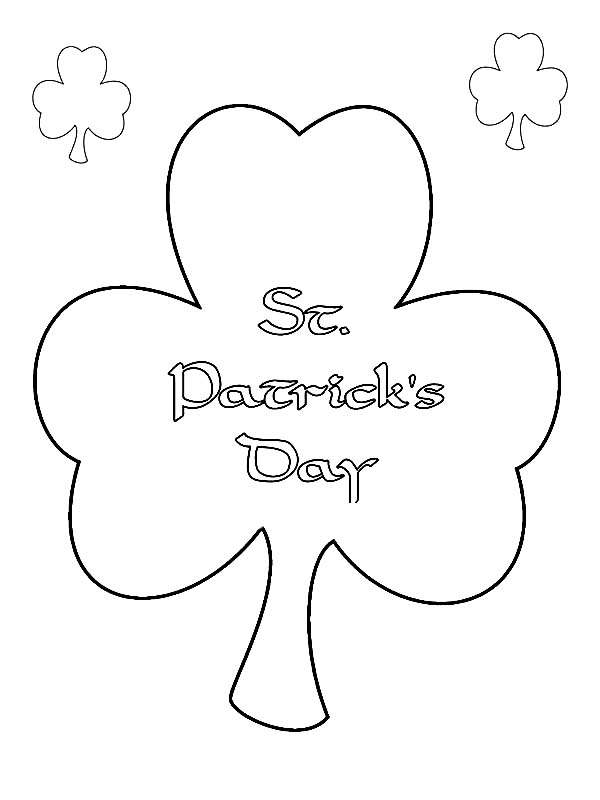 St Patricks Day, : Shamrock, a St Patricks Day Symbol of Trinity Coloring Page