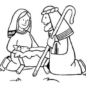 shepperd praise baby jesus coloring page