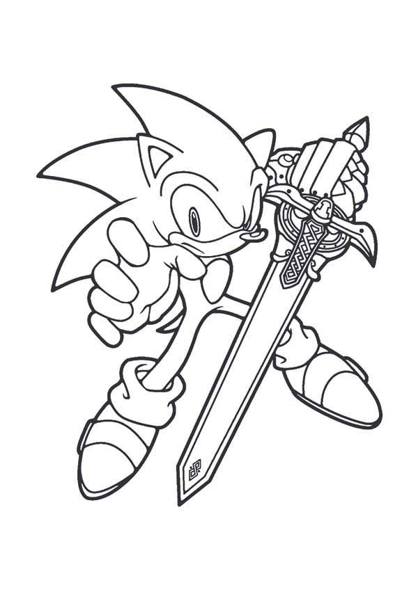 sonic blade coloring page