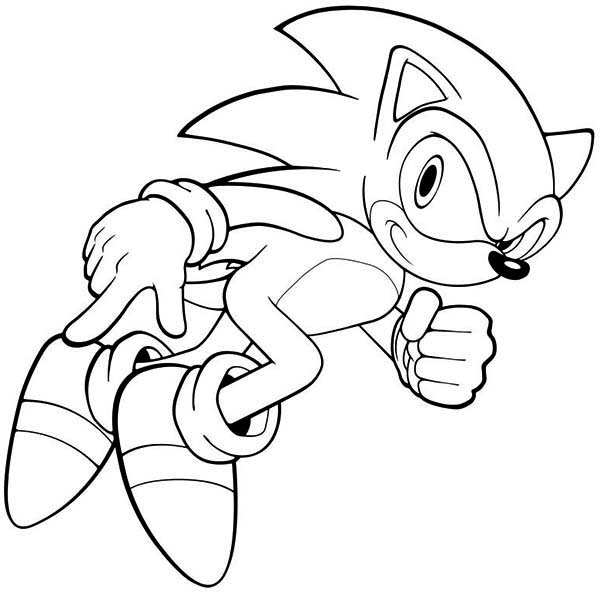 Sonic the Hedgehog, : Sonic Ready to Run Coloring Page