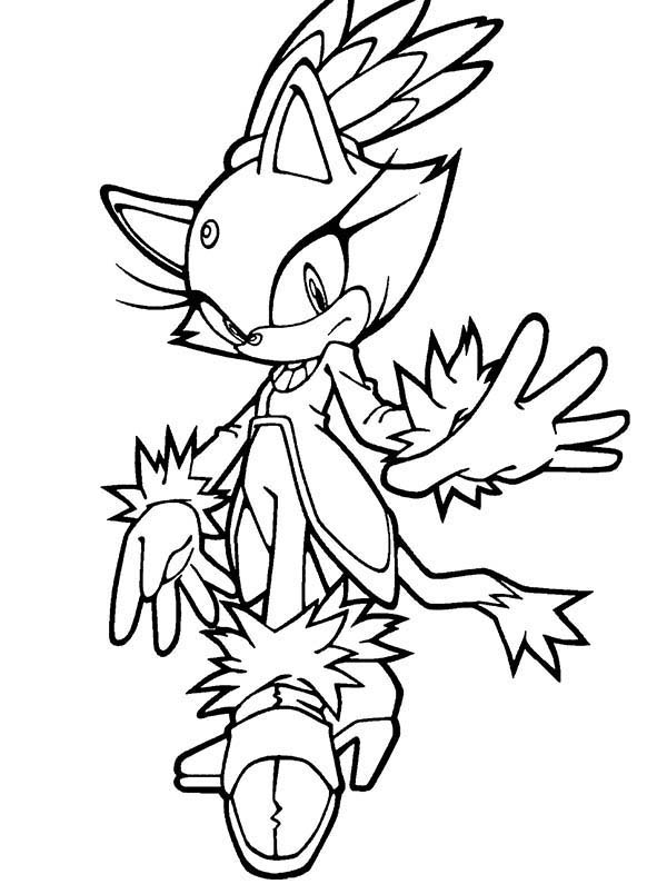 Sonic the Hedgehog, : Sonic the Hedgehog Character Amy Coloring Page