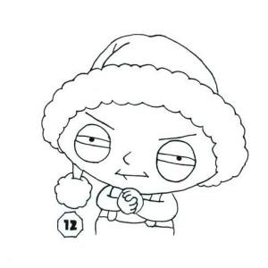 interesting stewie wearing santa hat in family guy coloring page with family guy coloring pages - Family Guy Coloring Pages
