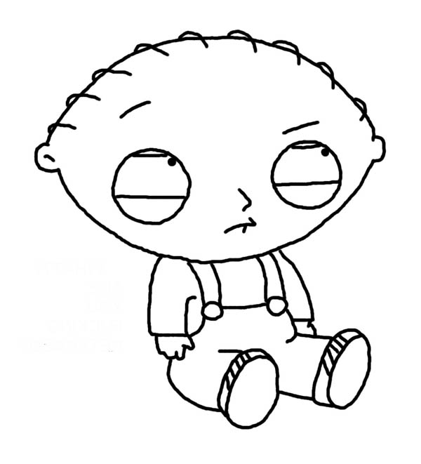 Family Guy, : Stewie is Sad in Family Guy Coloring Page