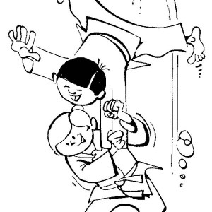 sub mission attack in karate kid coloring page