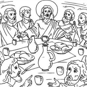 the last supper coloring page jesus in the last supper coloring page