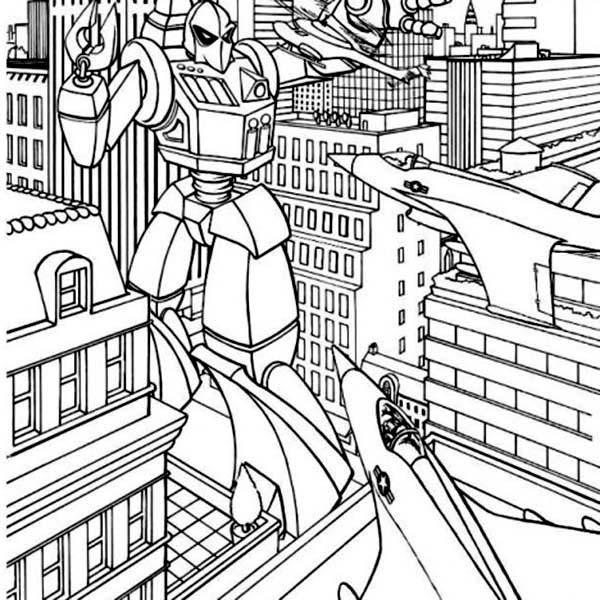 Transformers, : The War of Transformers Coloring Page