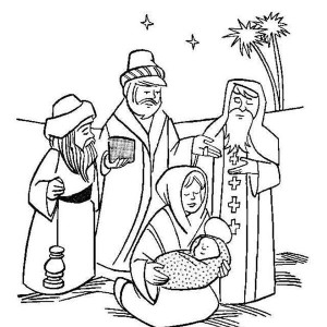 Baby Jesus Manger Coloring Page Images amp Pictures Becuo