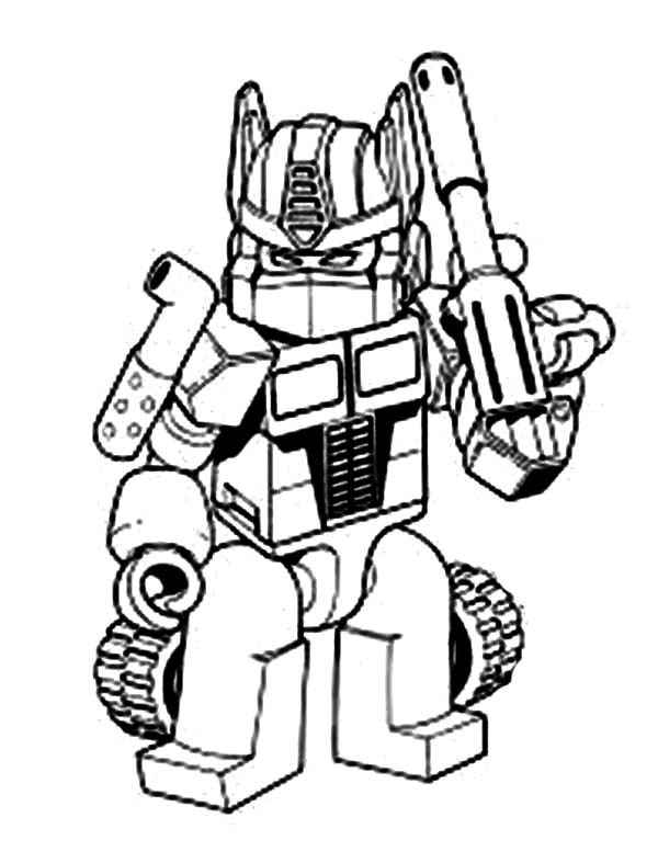 Colouring In Sheets Transformers : Transformers oprimus prime with bazooka coloring page kids play