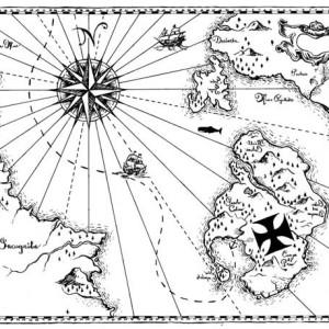 world treasure map coloring page