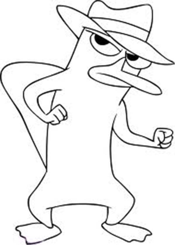 Phineas and Ferb, : Agent P Hate Dr Hoof in Phineas and Ferb Coloring Page