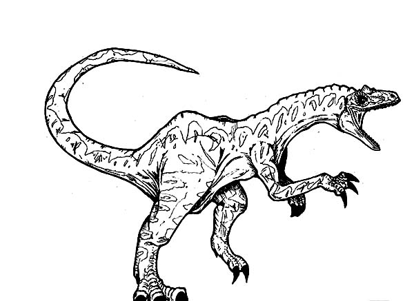 Allosaurus, : Allosaurus Screaming Coloring Page