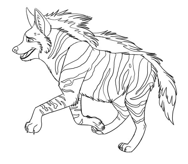 amazing animal hyena coloring page
