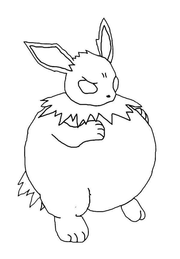 Jolteon, : Amazing Inflated Jolteon Coloring Page