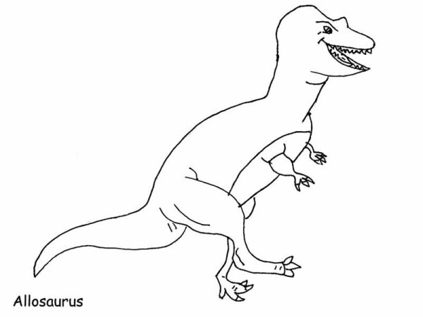 Allosaurus, : Ancient Animal Allosaurus Coloring Page