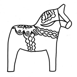 awesome horse pinata coloring page hitting
