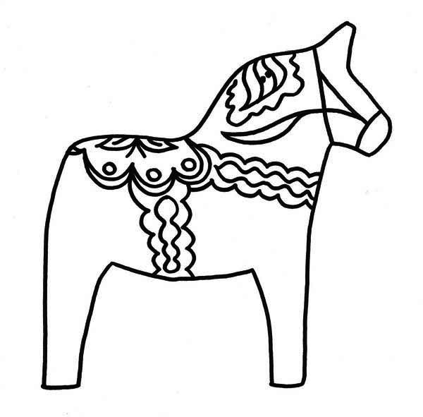 Pinata, : Awesome Horse Pinata Coloring Page