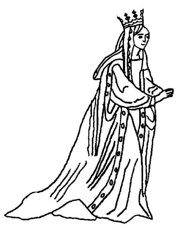 Queen Esther, : Awesome Picture of Queen Esther Coloring Page