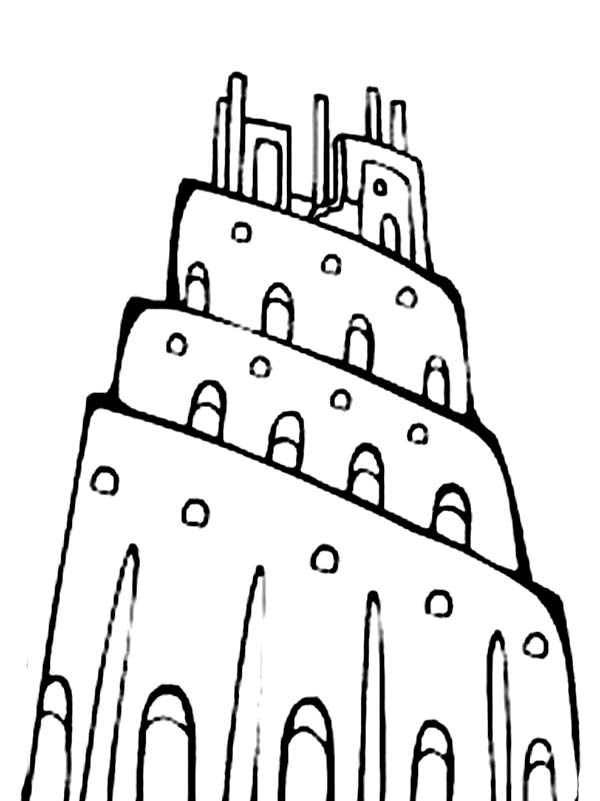 Tower of Babel, : Awesome Picture of Tower of Babel Coloring Page