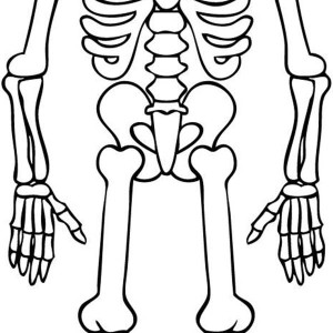 awesome skeleton drawing coloring page