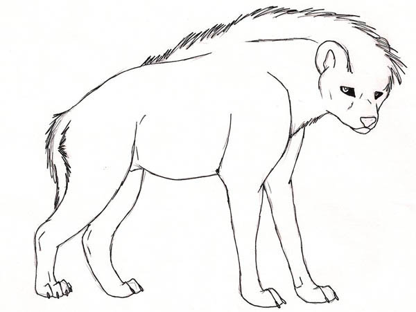 black eyed hyena coloring page