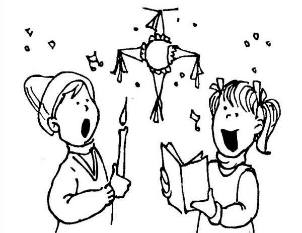 christmas pinata coloring page kids play color