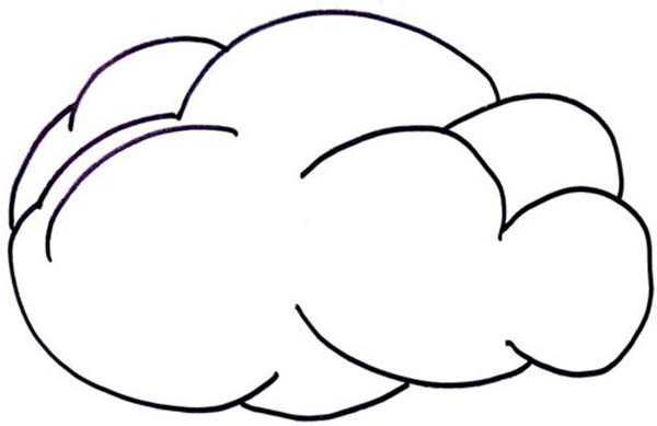 Clouds, : Clouds Protect Us from the Sun Coloring Page