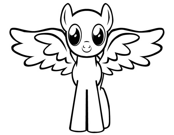 cute baby pegasus coloring page