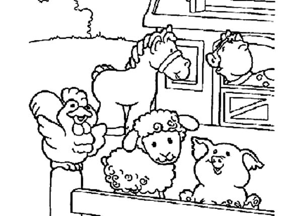 Cute Baby Farm Animals Coloring Pages
